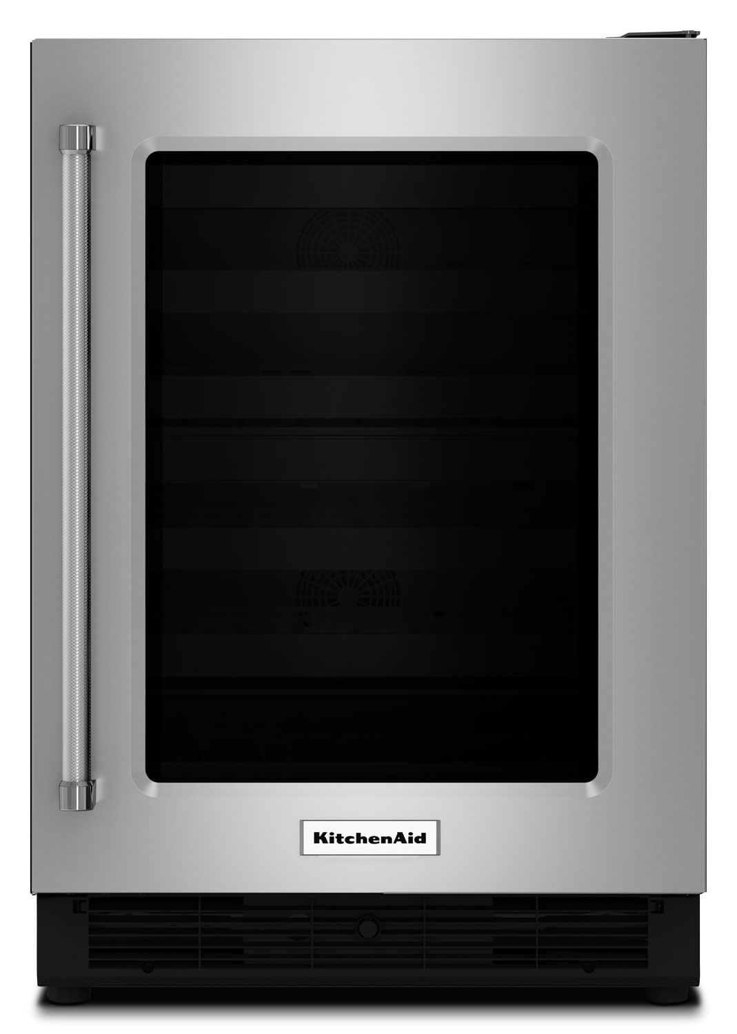 KitchenAid 5.1 Cu. Ft. Glass-Door Undercounter Refrigerator with Right-Door Swing – Stainless Steel
