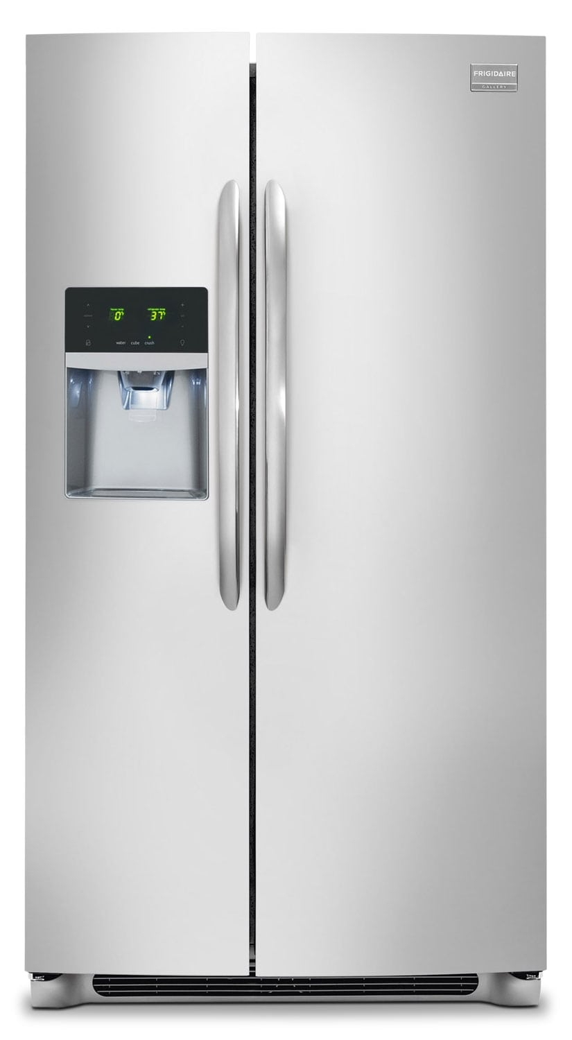 Refrigerators and Freezers - Frigidaire Gallery Stainless Steel Counter-Depth Side-by-Side Refrigerator (23 Cu. Ft.) - FGHC2355PF