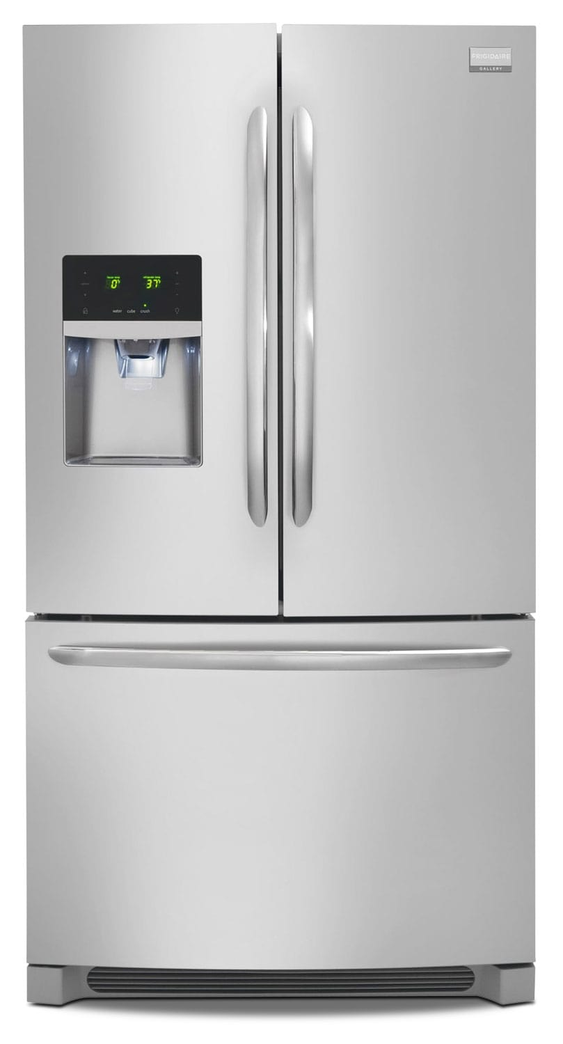 Refrigerators and Freezers - Frigidaire Gallery Stainless Steel Counter-Depth French Door Refrigerator (23 Cu. Ft.) - FGHF2366PF
