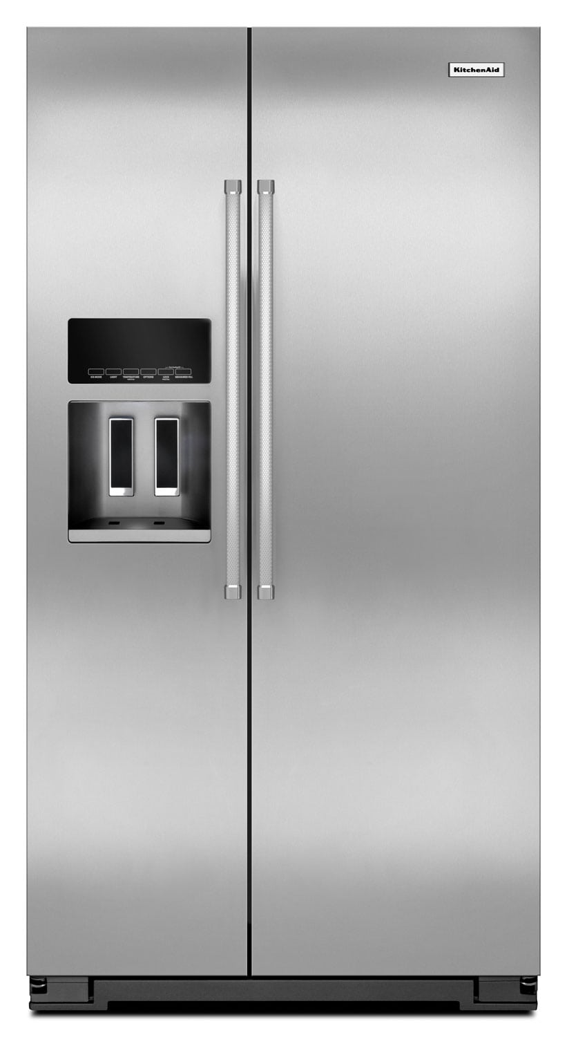 Refrigerators and Freezers - KitchenAid 19.8 Cu. Ft. Side-by-Side Refrigerator - Stainless Steel
