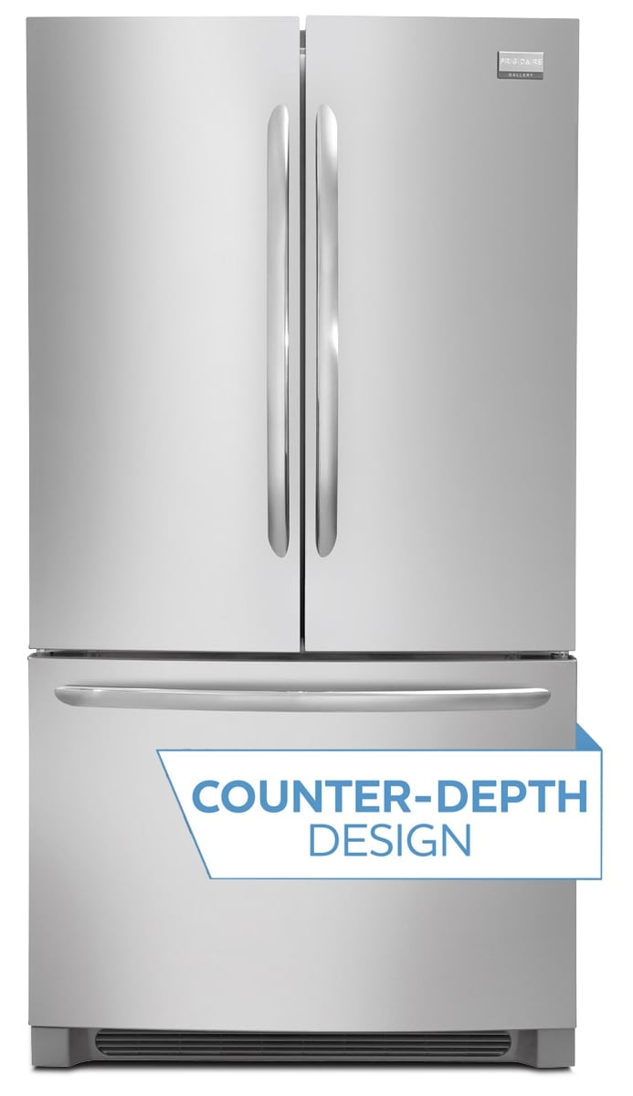 Frigidaire Gallery Stainless Steel Counter-Depth French Door Refrigerator (23 Cu. Ft.) - FGHG2366PF