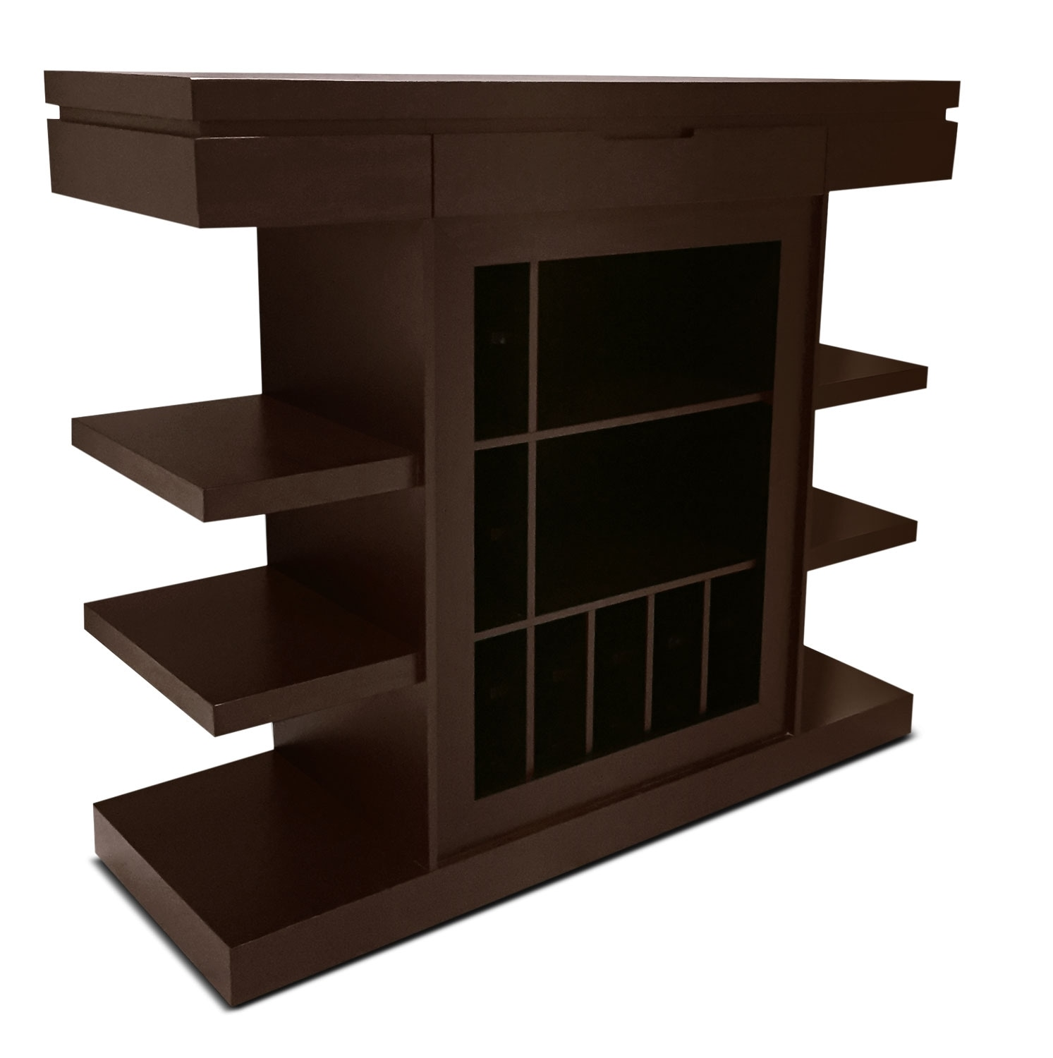 Accent and Occasional Furniture - Stanza Bar with Casters