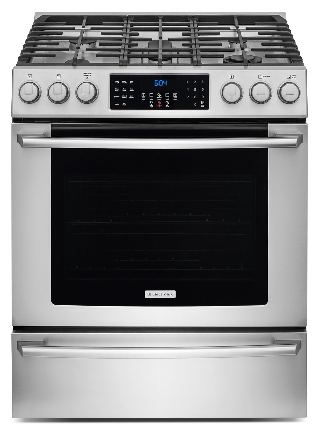 Cooking Products - Electrolux 4.5 Cu. Ft. Front-Control Freestanding Gas Range – Stainless Steel