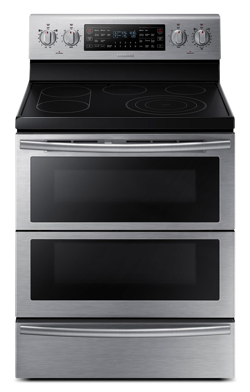 Cooking Products - Samsung Stainless Steel Freestanding Electric Dual Convection Range (5.9 Cu. Ft.) - NE59J7850WS/AC
