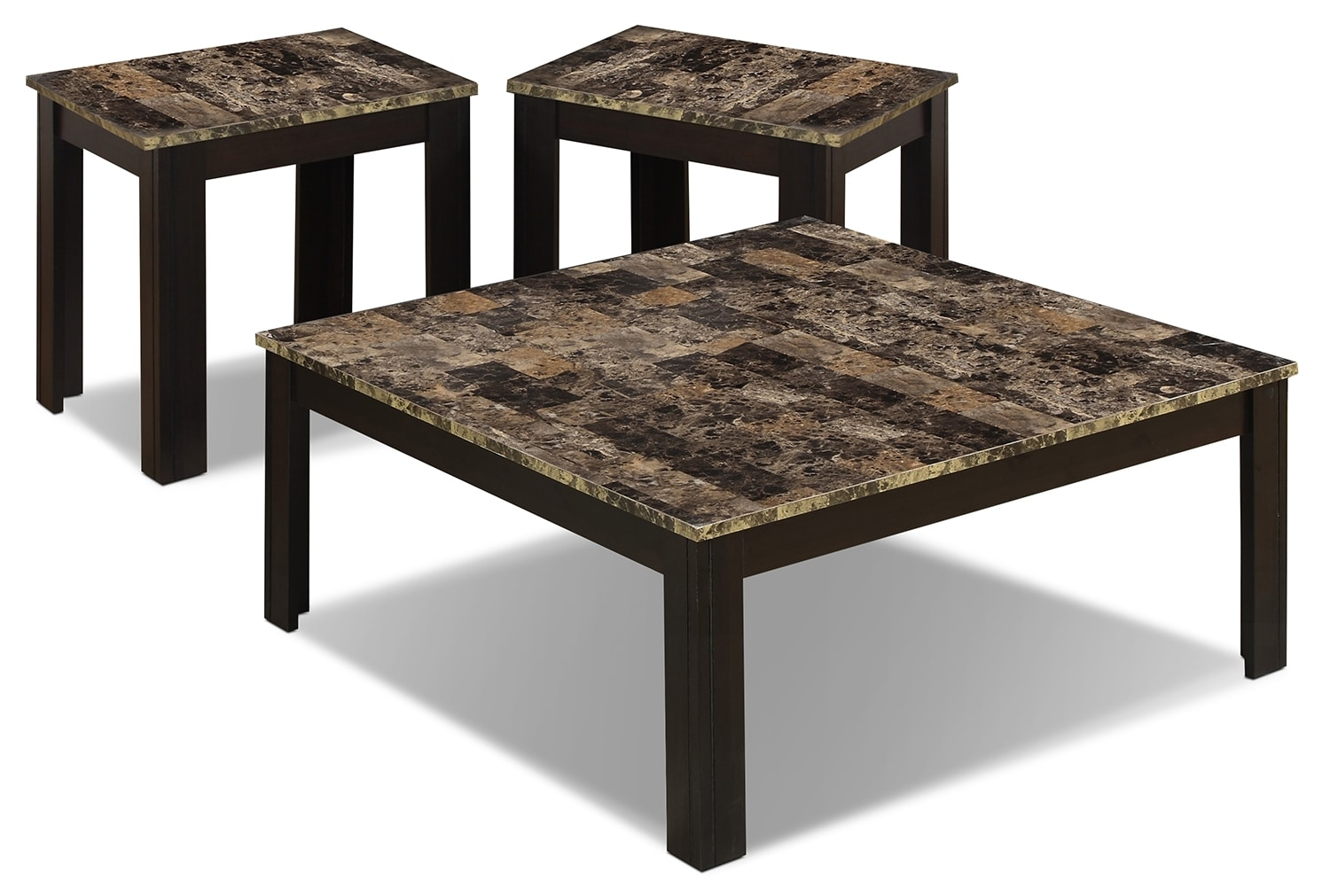 Malta 3 Piece Coffee And Two End Tables Package The Brick
