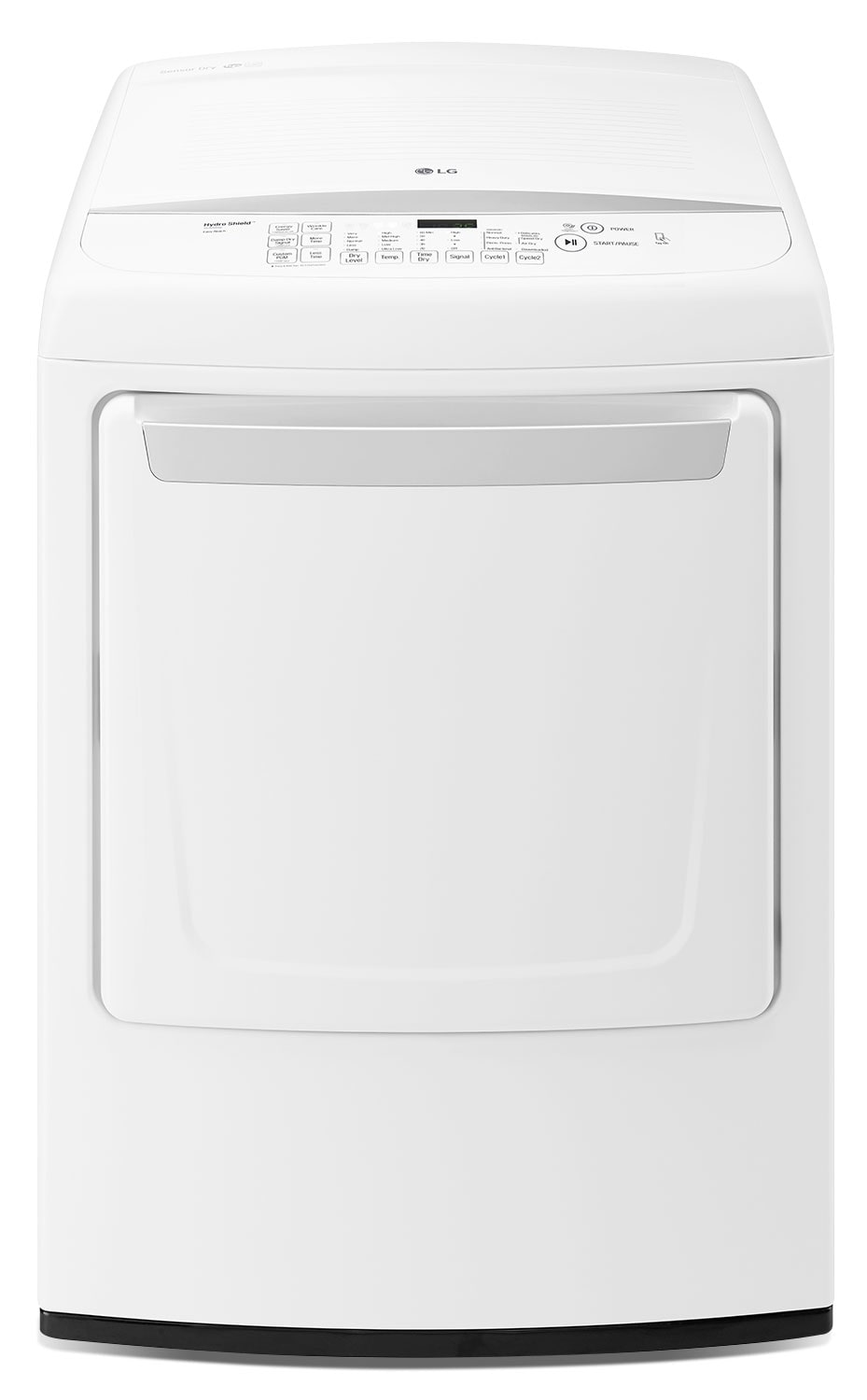 LG 7.3 Cu. Ft. High-Efficiency Front-Control Electric Dryer with NFC Tag On – White