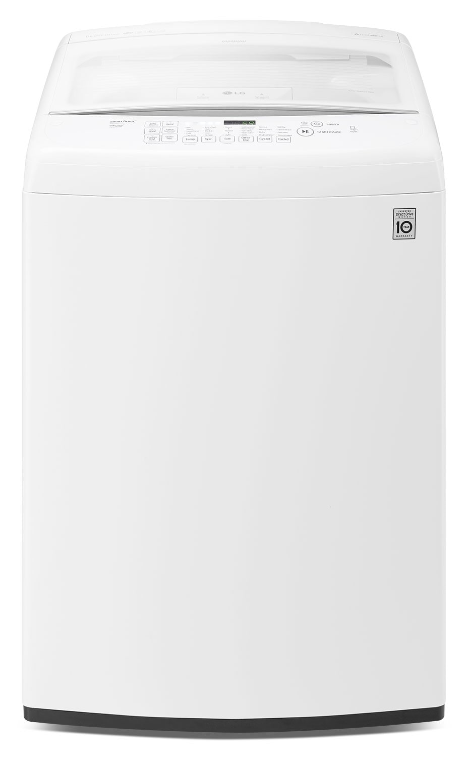 LG 5.2 Cu. Ft. High-Efficiency Top-Load Washer with Front Controls – White