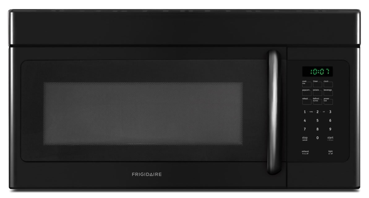 Cooking Products - Frigidaire Black Over-the-Range Microwave (1.6 Cu. Ft.) - CFMV162LB