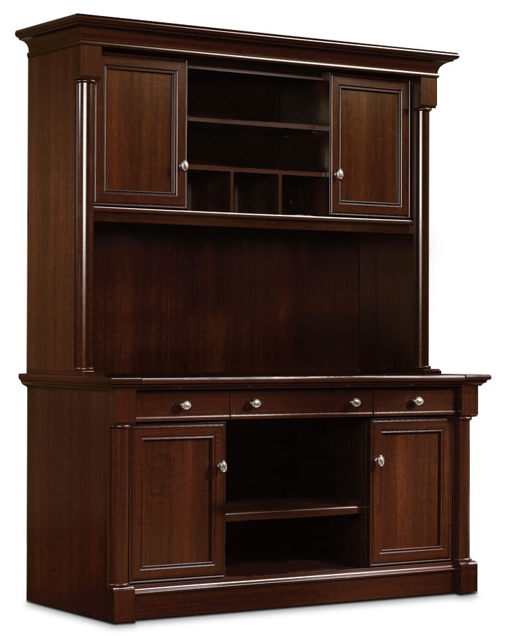 Palladia quot desk with hutch select cherry the brick