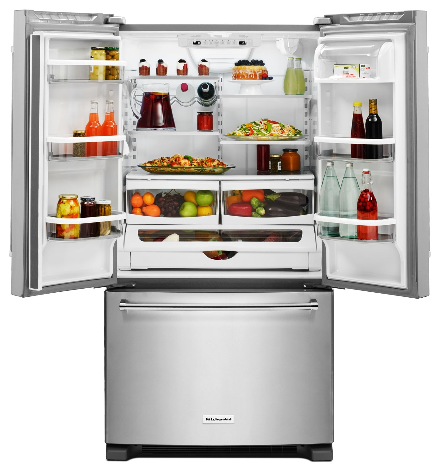 KitchenAid 20 Cu. Ft. French Door Refrigerator with ...