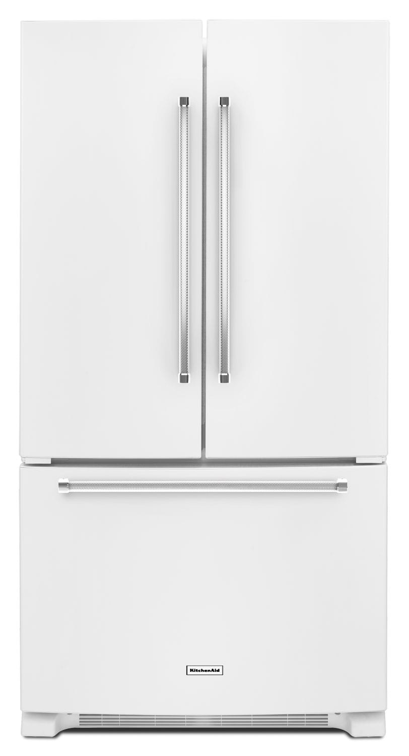 Refrigerators and Freezers - KitchenAid 20 Cu. Ft. French Door Refrigerator with Interior Dispenser - White