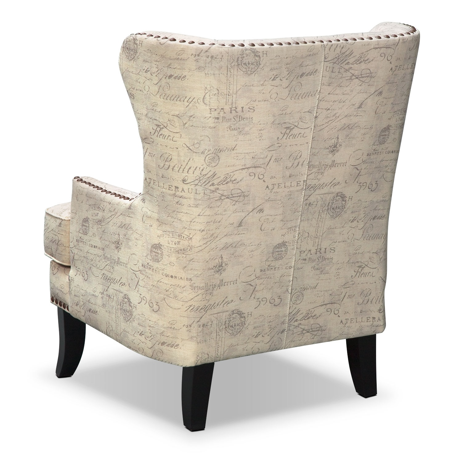 Marseille Accent Chair Cream And Black Value City