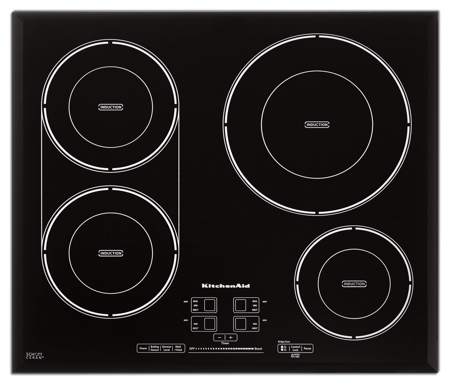"""Cooking Products - KitchenAid 24"""" Four-Element Induction Cooktop"""