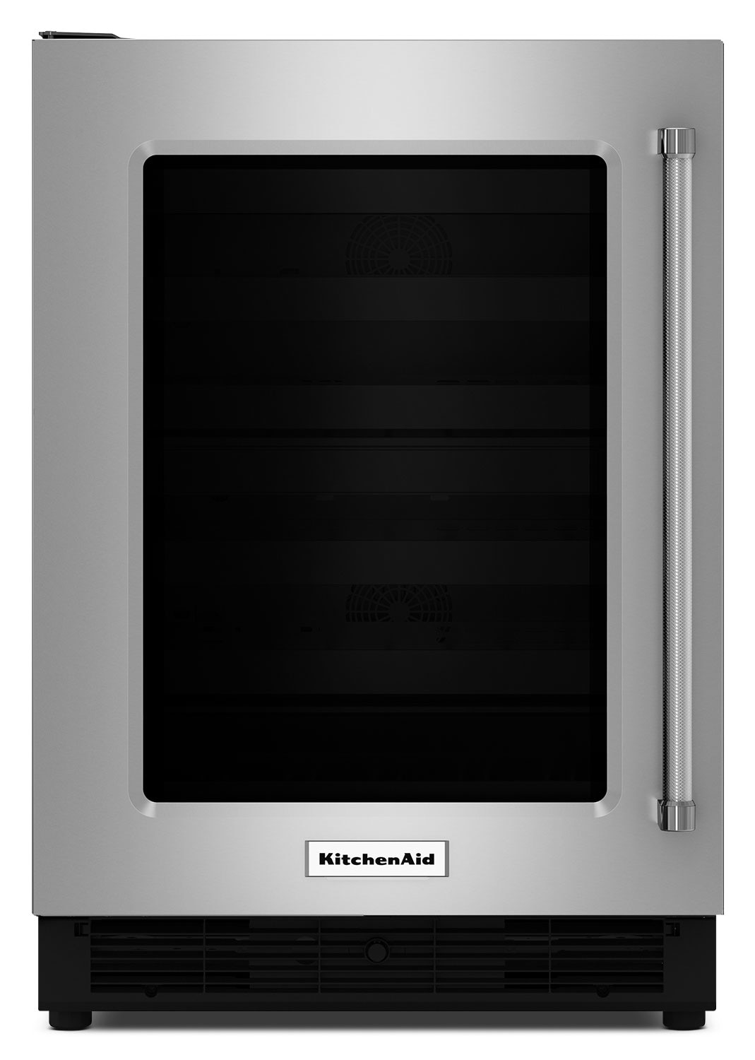KitchenAid 5.1 Cu. Ft. Glass-Door Undercounter Refrigerator with Left-Door Swing – Stainless Steel
