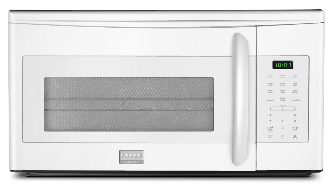 Cooking Products - Frigidaire Gallery White Over-the-Range Microwave (1.7 Cu. Ft.) - CGMV175QW