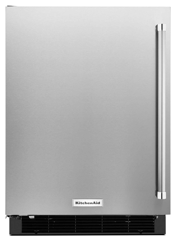 KitchenAid 4.9 Cu. Ft. Undercounter Refrigerator with Left Door Swing - Stainless Steel