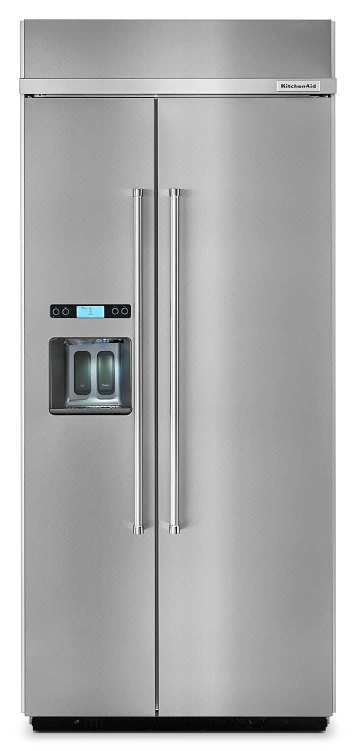 KitchenAid 20.8 Cu. Ft. Built-In Side-by-Side Refrigerator – Stainless Steel