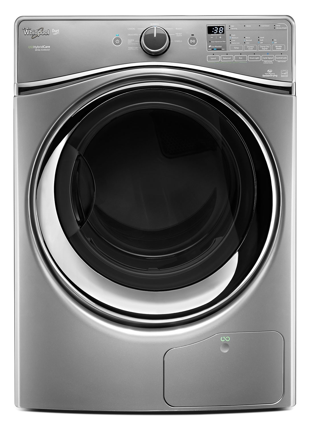 Washers and Dryers - Whirlpool 7.3 Cu. Ft. HybridCare™ Ventless Duet® Dryer - Chrome