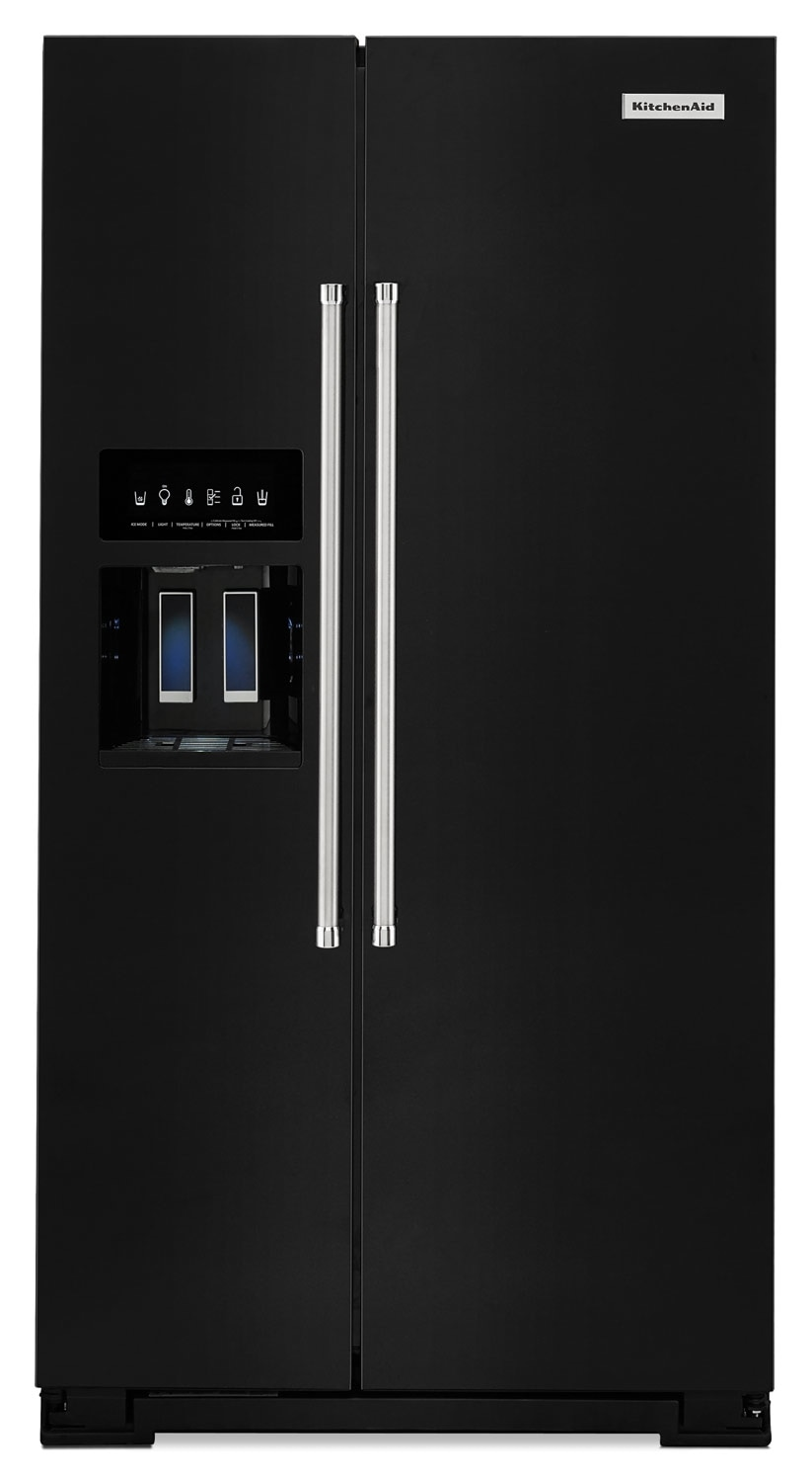 Refrigerators and Freezers - KitchenAid 24.8 Cu. Ft. Standard Depth Side-by-Side Refrigerator – Black