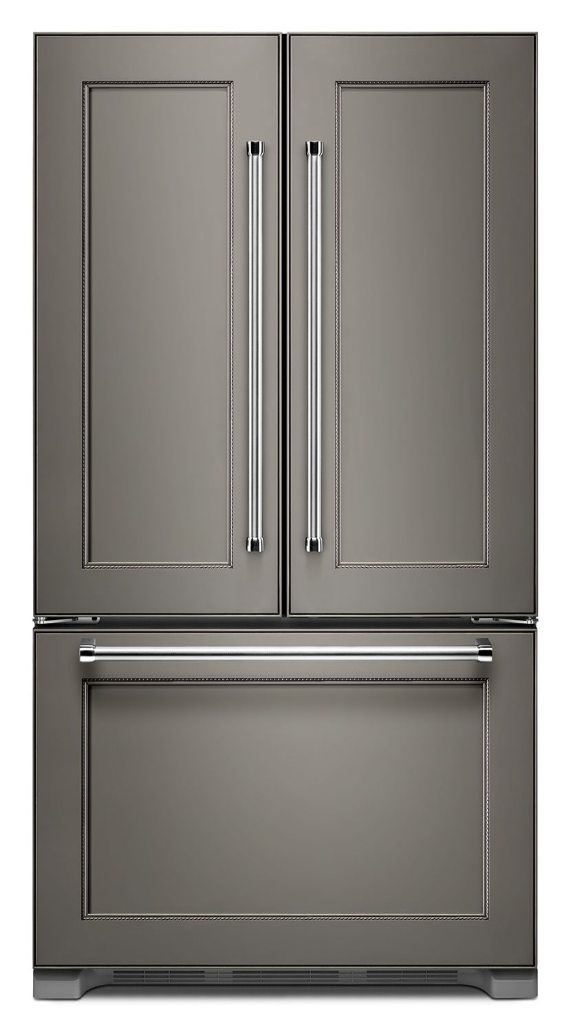 Refrigerators and Freezers - KitchenAid 22 Cu. Ft. French Door Refrigerator with Interior Dispenser - Panel-Ready