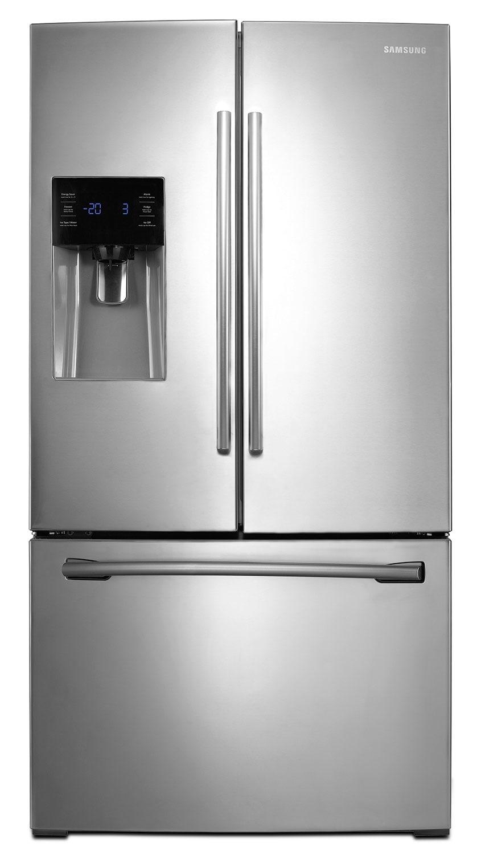 Réfrigérateurs et Congélateurs - Réfrigérateur Samsung de 26 pi³ à portes françaises - acier inoxydable