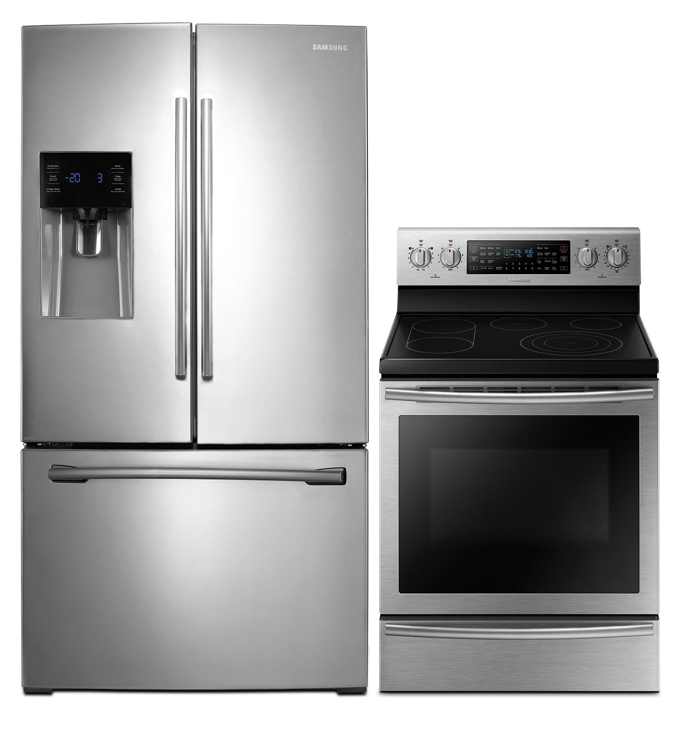 Refrigerators and Freezers - Samsung 26 Cu. Ft. French-Door Refrigerator and Flex Duo™ Electric Range - Stainless Steel