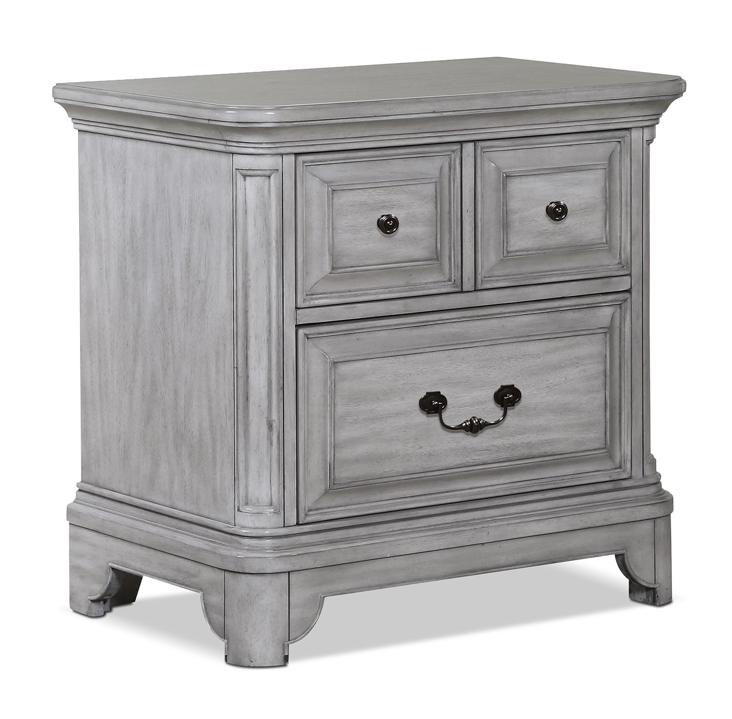Bedroom Furniture - Tressa Night Table - Weathered Grey