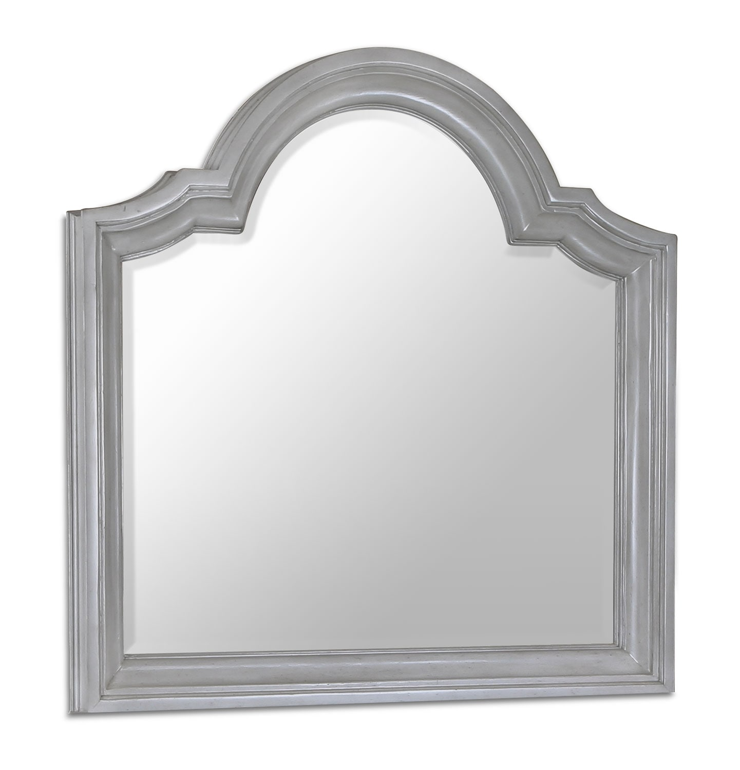 Bedroom Furniture - Tressa Mirror - Weathered Grey