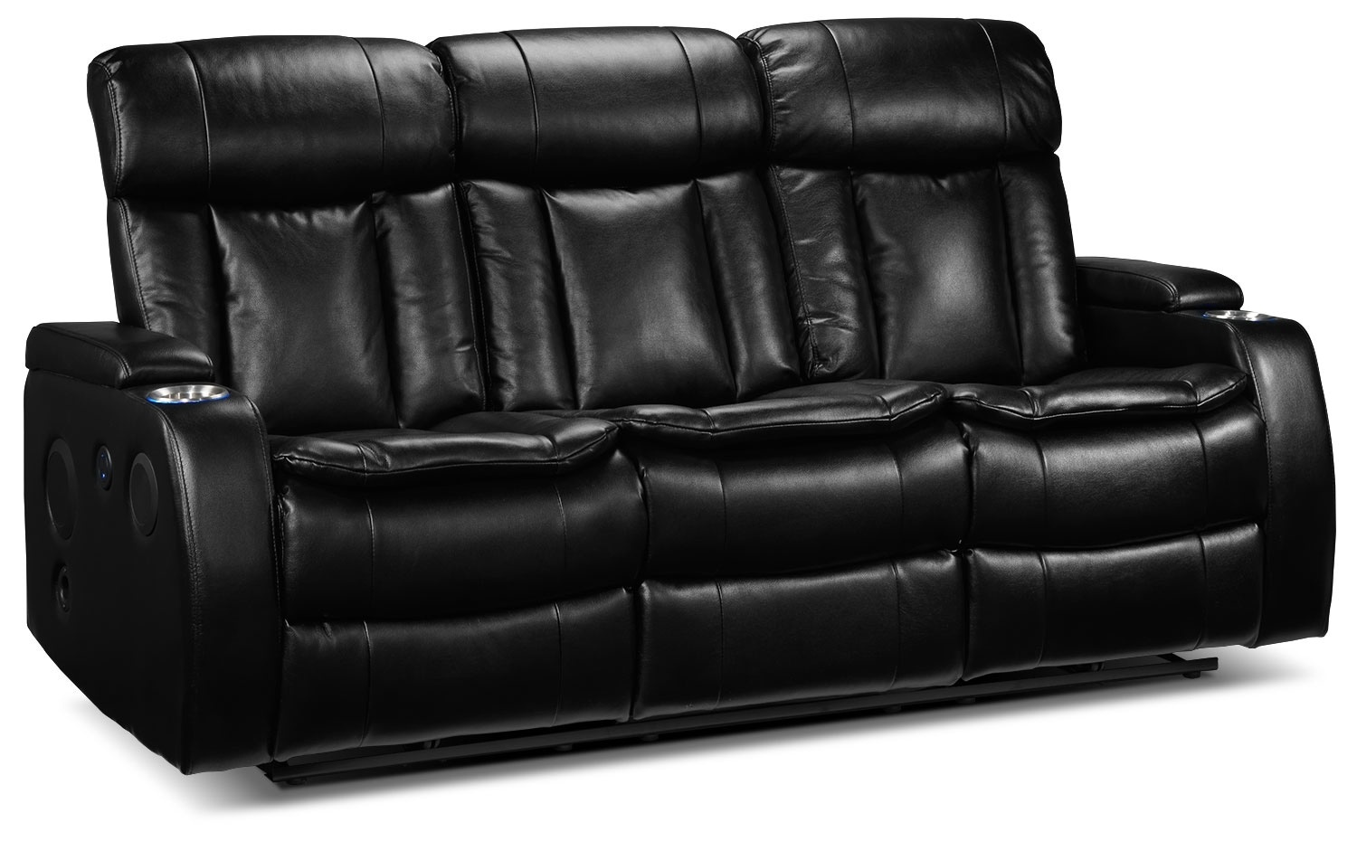 Living Room Furniture - Executive Power Reclining Sofa - Black