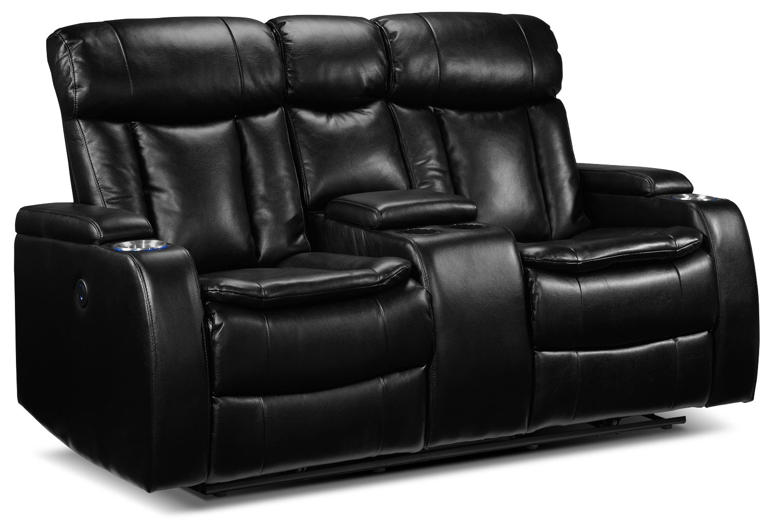 Living Room Furniture - Executive Power Reclining Loveseat w/ Console