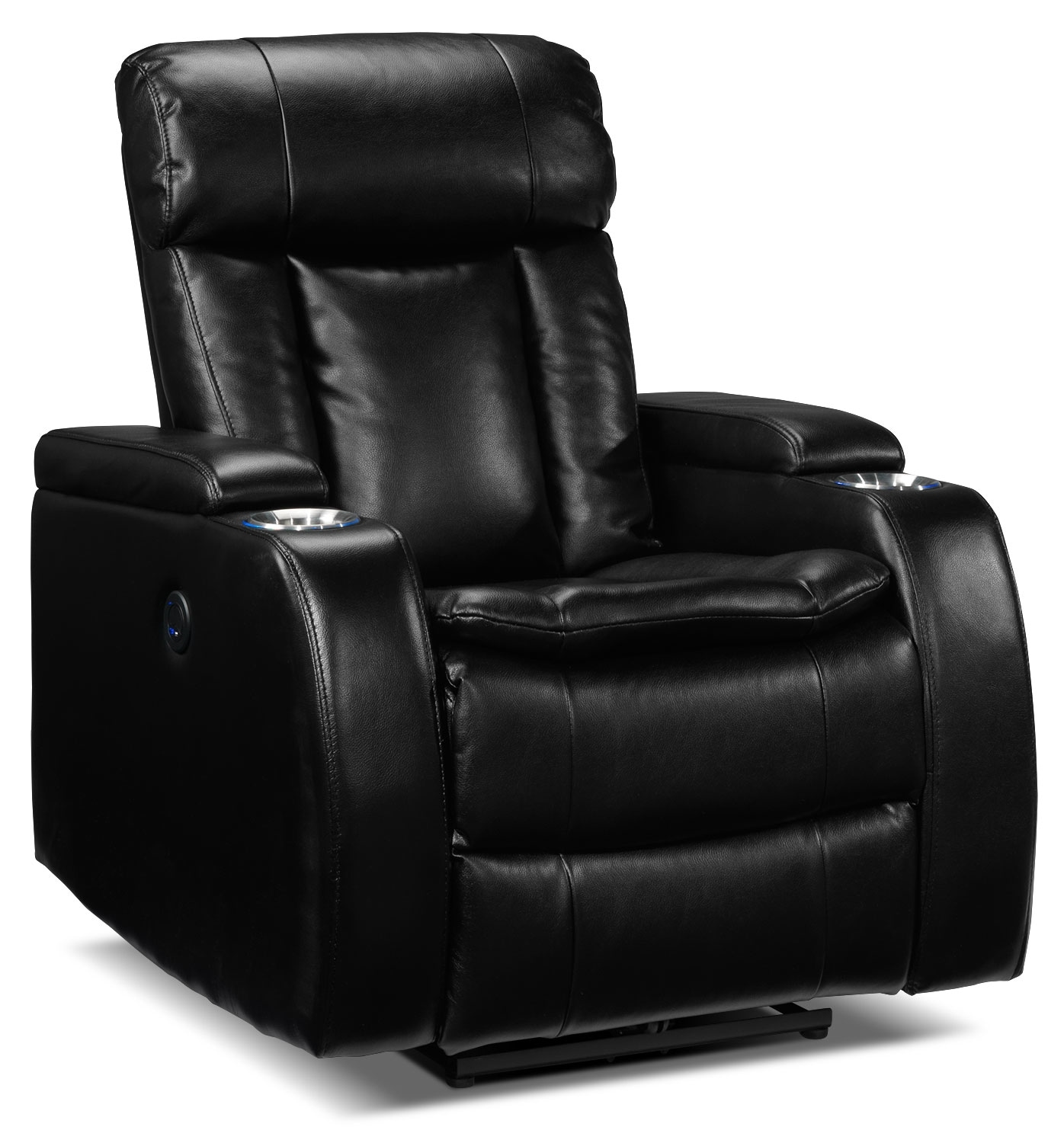 Living Room Furniture - Executive Power Recliner - Black