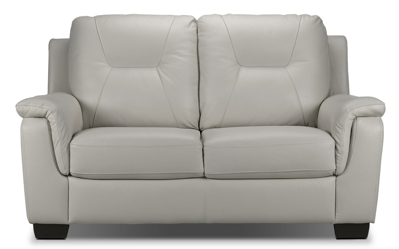 Living Room Furniture - Dalia Loveseat - Silver
