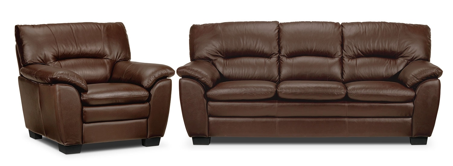Rodero Sofa and Chair Set - Hazelnut