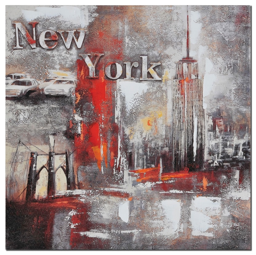 """Accent and Occasional Furniture - Memories of New York - 20"""" x 20"""""""