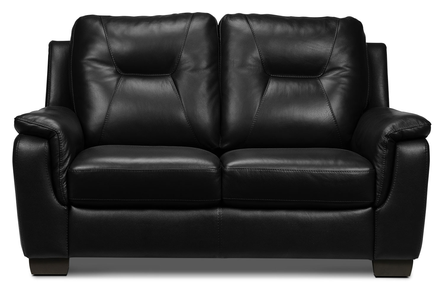 Living Room Furniture - Dalia Loveseat - Black