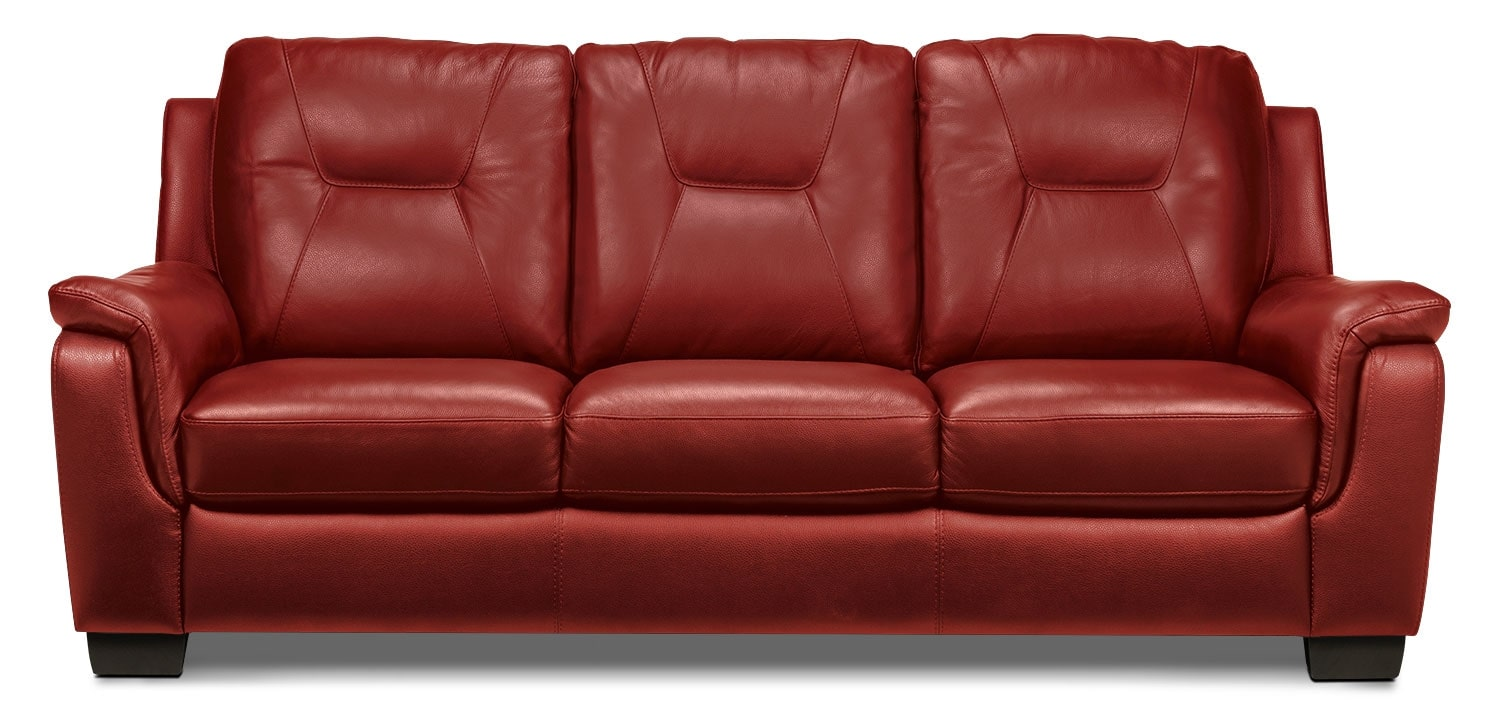Living Room Furniture - Dalia Sofa - Red