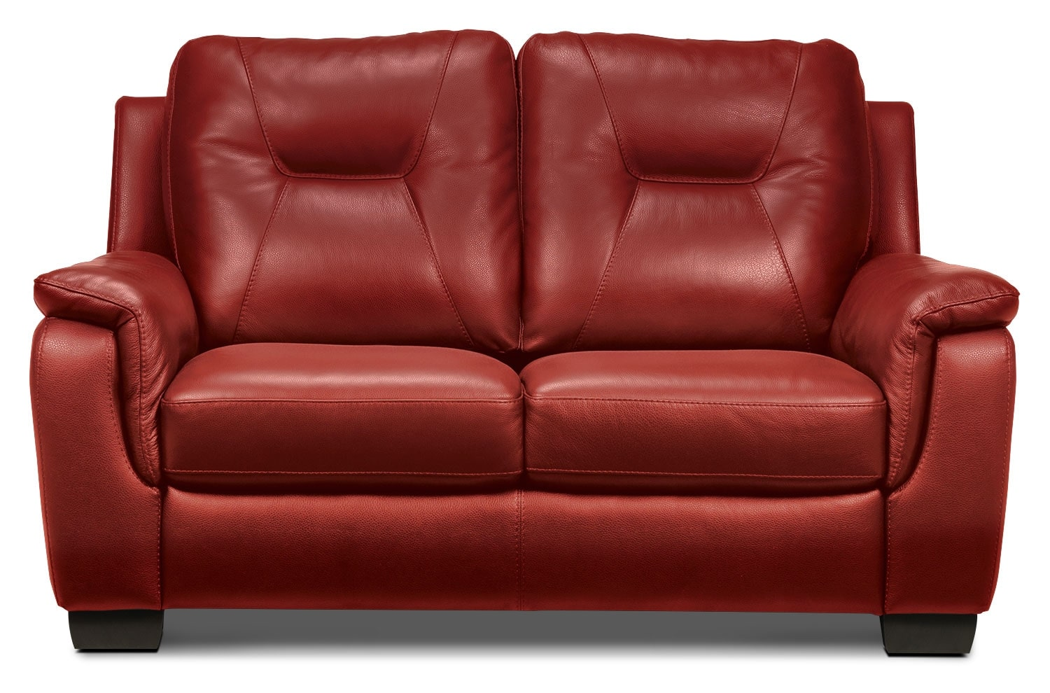 Living Room Furniture - Dalia Loveseat - Red