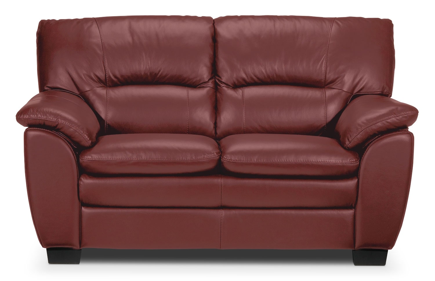 Living Room Furniture - Rodero Loveseat - Red