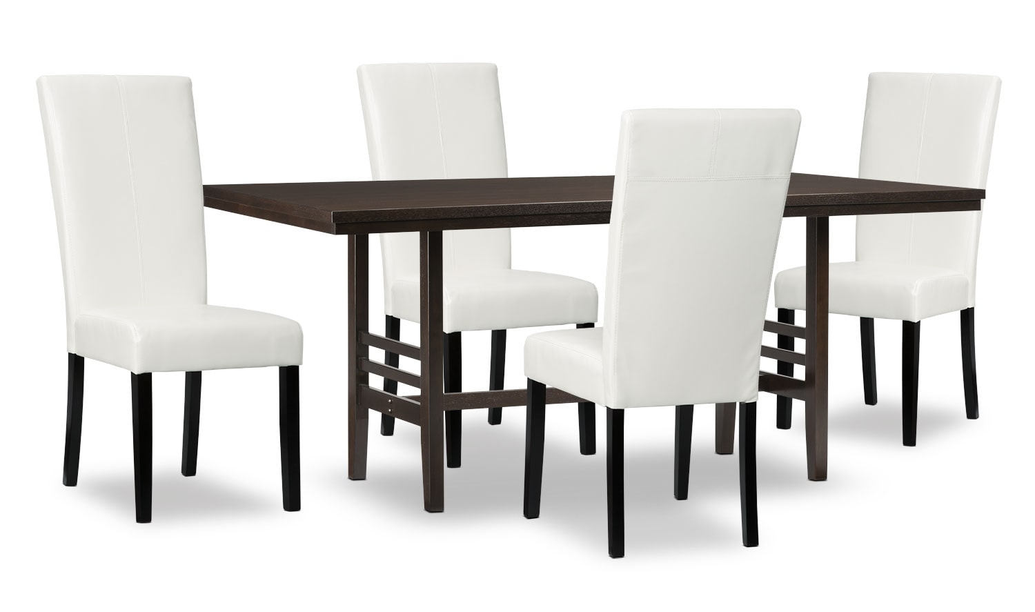Dining Room Furniture - Metro 5-Piece Dining Package - White