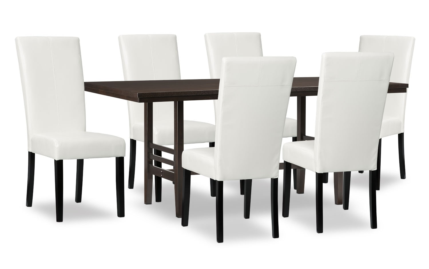 Dining Room Furniture - Metro 7-Piece Dining Package - White