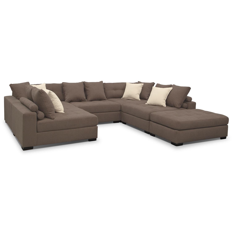 Venti 6 Piece Sectional Mocha Value City Furniture