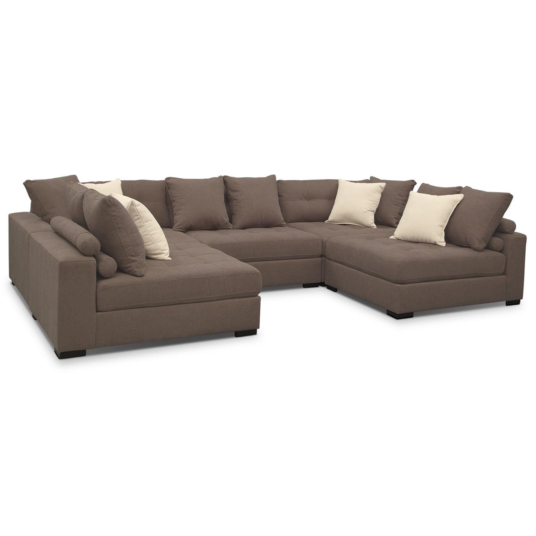 Venti 5-Piece Sectional - Mocha | Value City Furniture