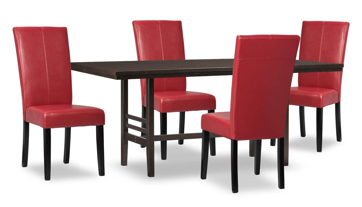 Dining Room Furniture - Metro 5-Piece Dining Package - Red