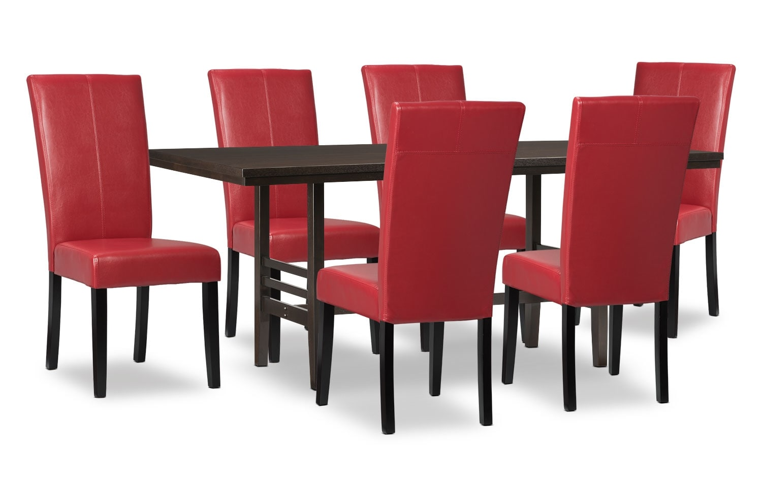 Dining Room Furniture - Metro 7-Piece Dining Package - Red
