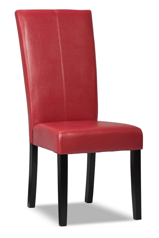 Salle à manger - Chaise de salle à manger rouge