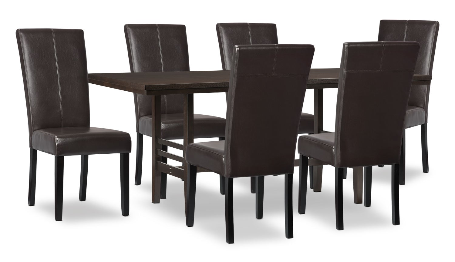 Dining Room Furniture - Metro 7-Piece Dining Package - Brown