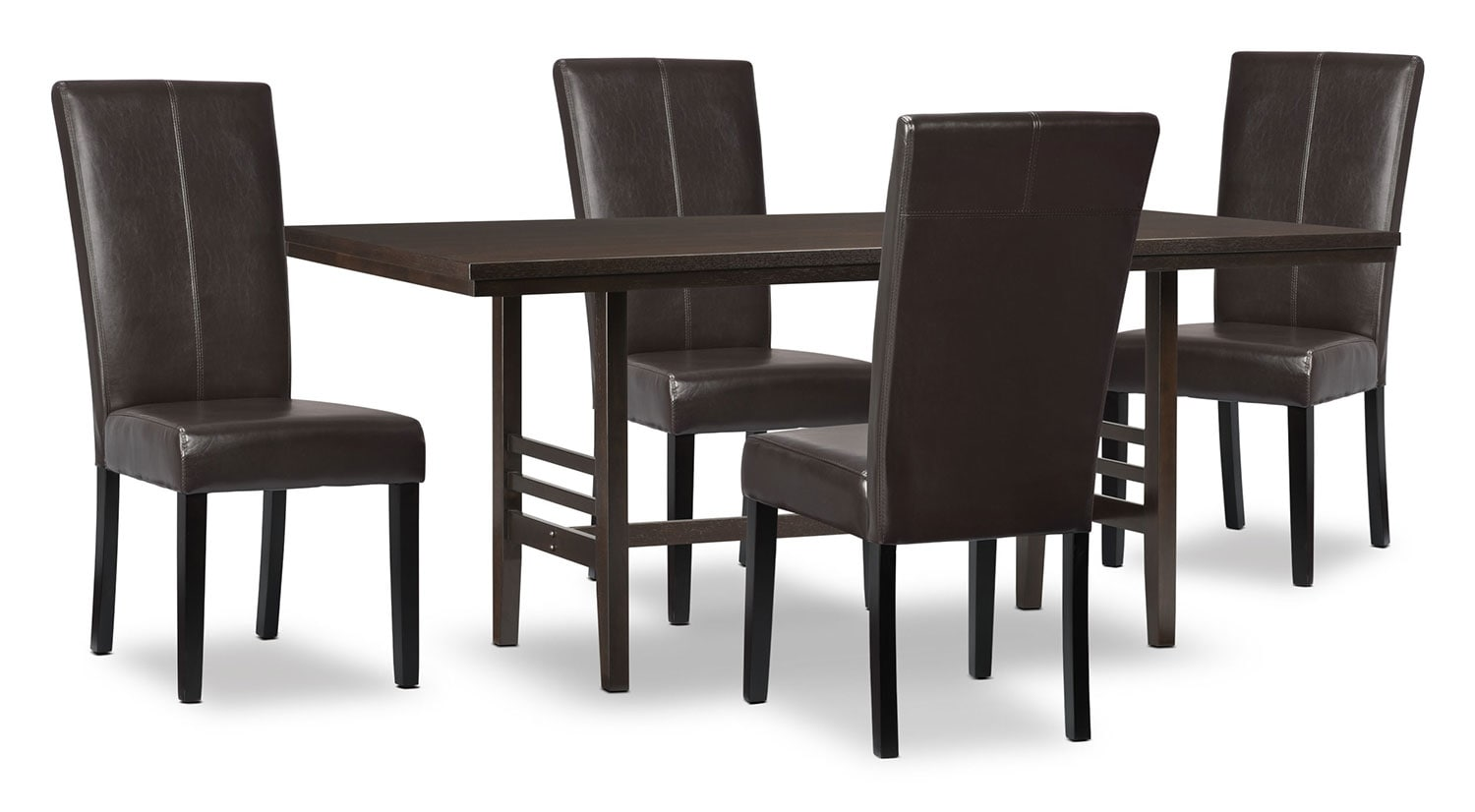 Dining Room Furniture - Metro 5-Piece Dining Package - Brown