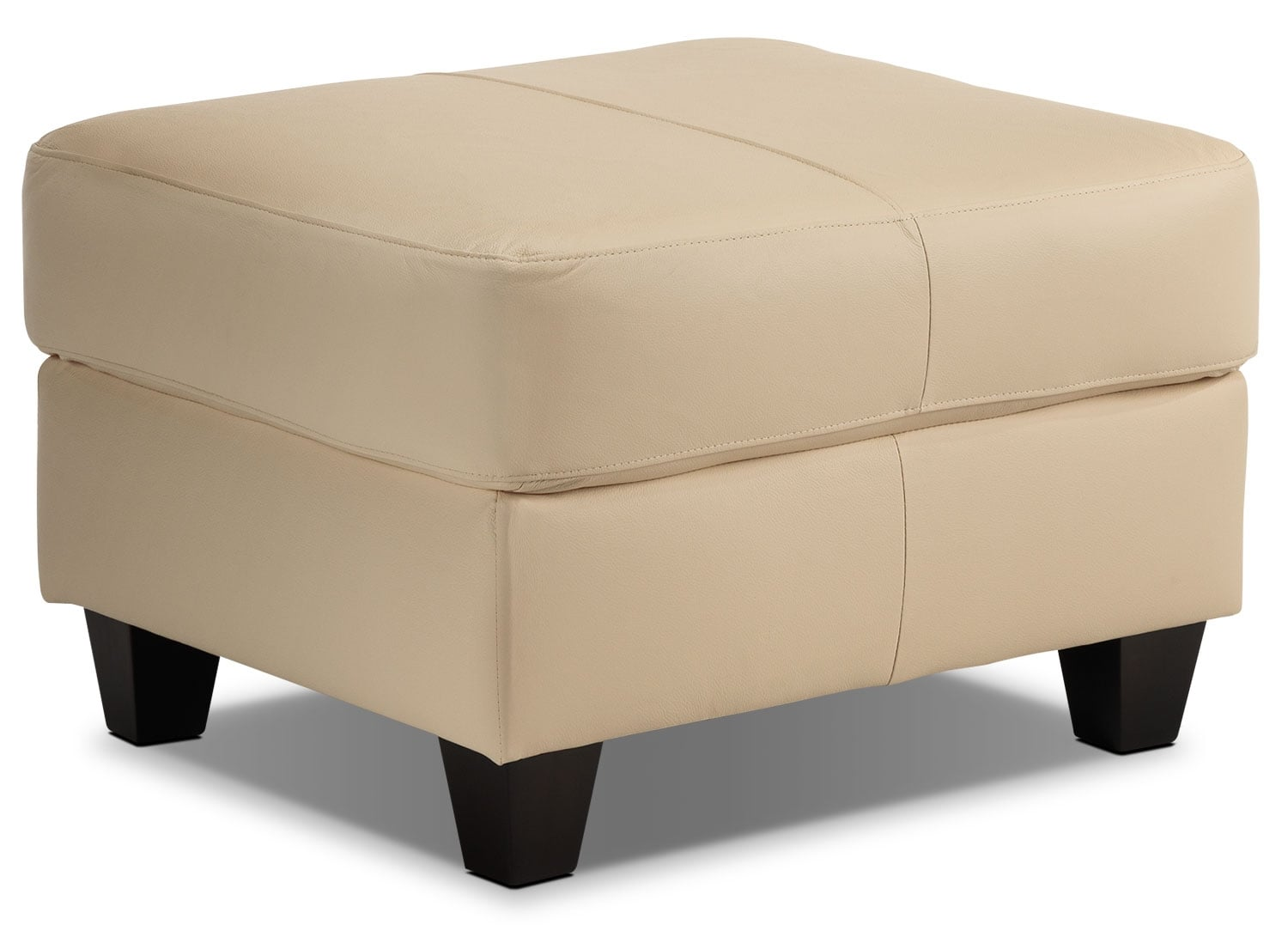 Living Room Furniture - Spencer Ottoman - Light Beige