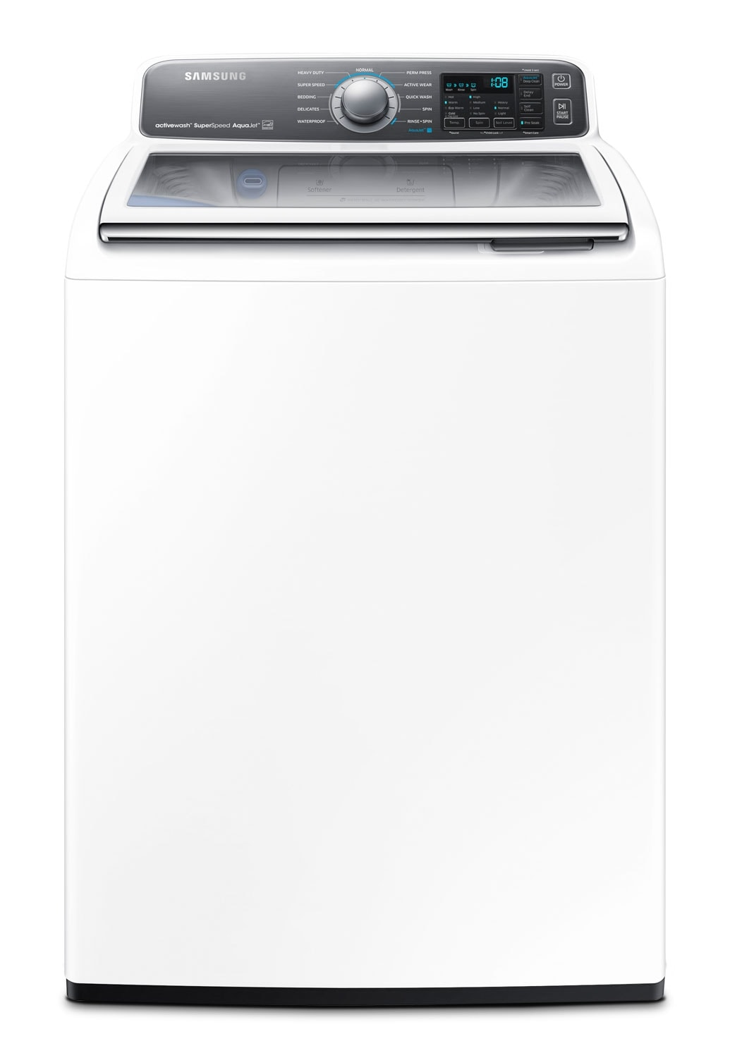 Washers and Dryers - Samsung 5.5 Cu Ft. Top-Load Washer with Active Wash™ - White