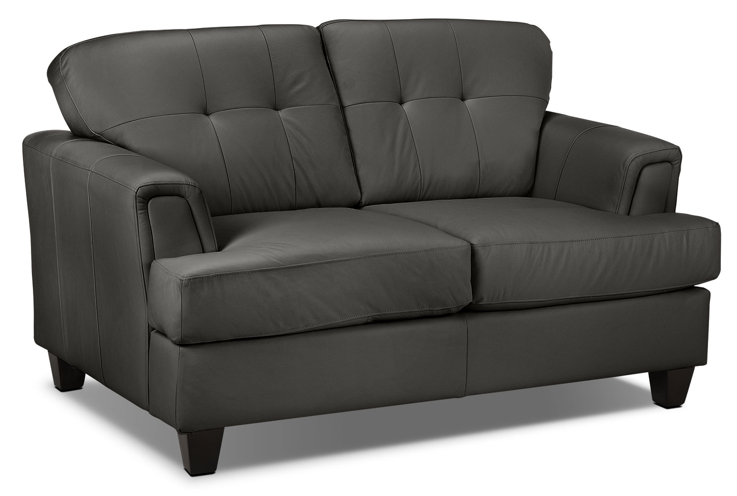 Living Room Furniture - Spencer Loveseat - Smoke Grey